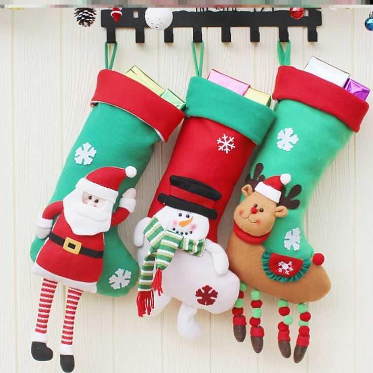 2020 Christmas socks gift bag set large cartoon thickened Christmas tree gift box for girlfriend on Christmas Eve in autumn and winter