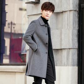 双面尼羊毛呢子大衣男士中长款冬季加厚羊绒妮子风衣外套英伦风潮