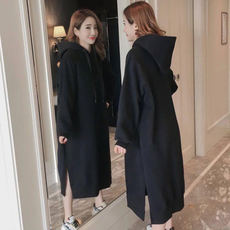 韩版小清晰秋冬连衣裙2019卫衣裙不包邮