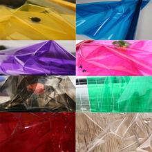 多色透明tpu镜面布料防水液体膜雨衣服装面料毕业设计创意优于pvc