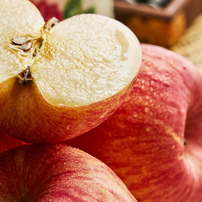 一级精品大连红富士苹果新鲜水果萍果冰 糖心5斤10瓦房店当季整箱图片