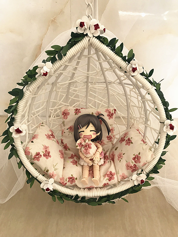 BJD dolls 8 points 12 points 6 points ob11 soldiers 1 / 6 hanging basket hanging chair hanging orchid Cradle Swing Photo Props scene