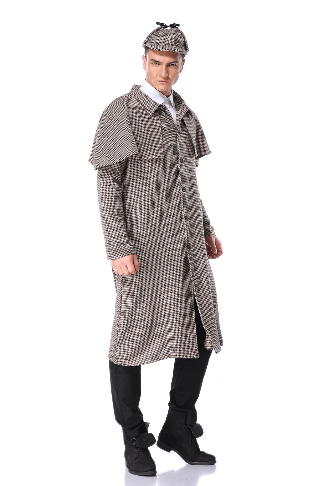 Children's role play Sherlock Holmes parent-child suit stage costume Halloween costume for men and adults
