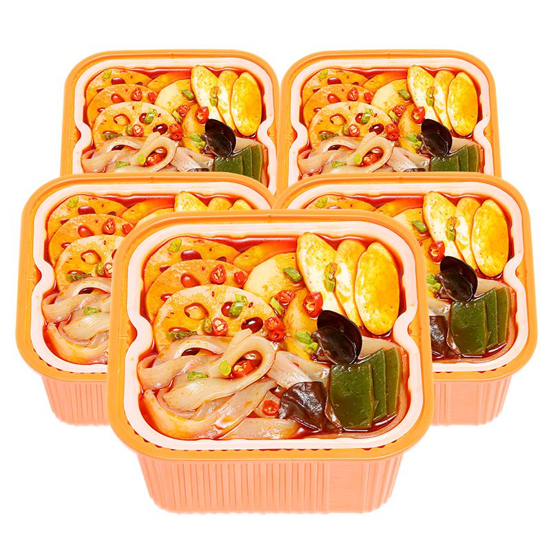 筷时尚轻食小火锅5盒装嗨麻辣鲜蔬