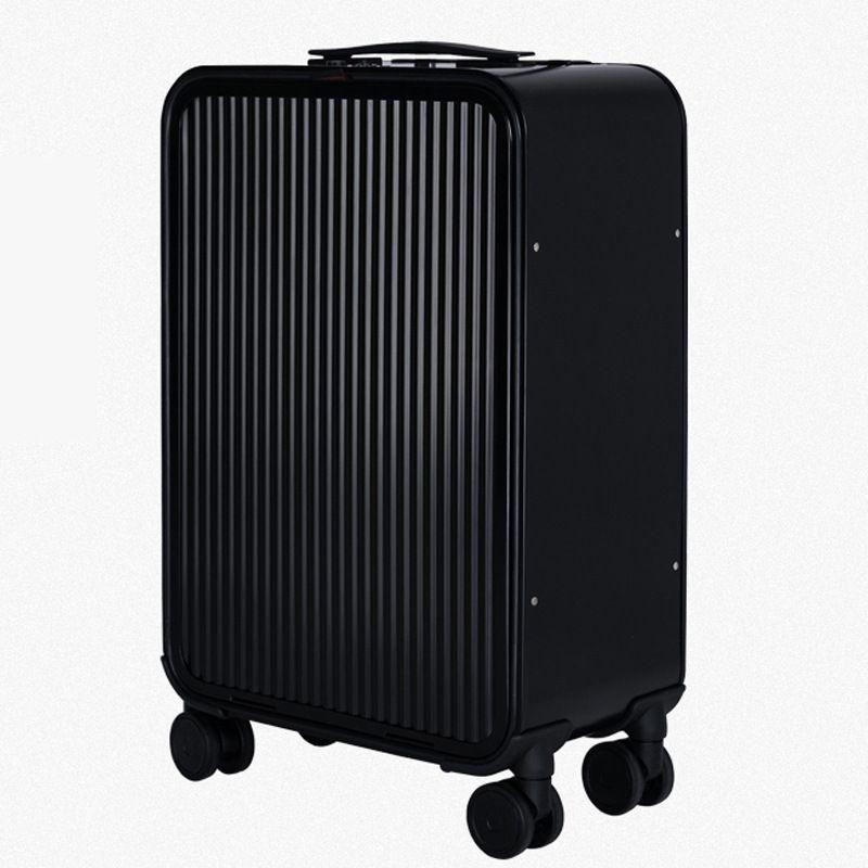 全铝镁合金拉杆箱定制侧开商务前开盖金属旅行箱登机箱行李箱代发