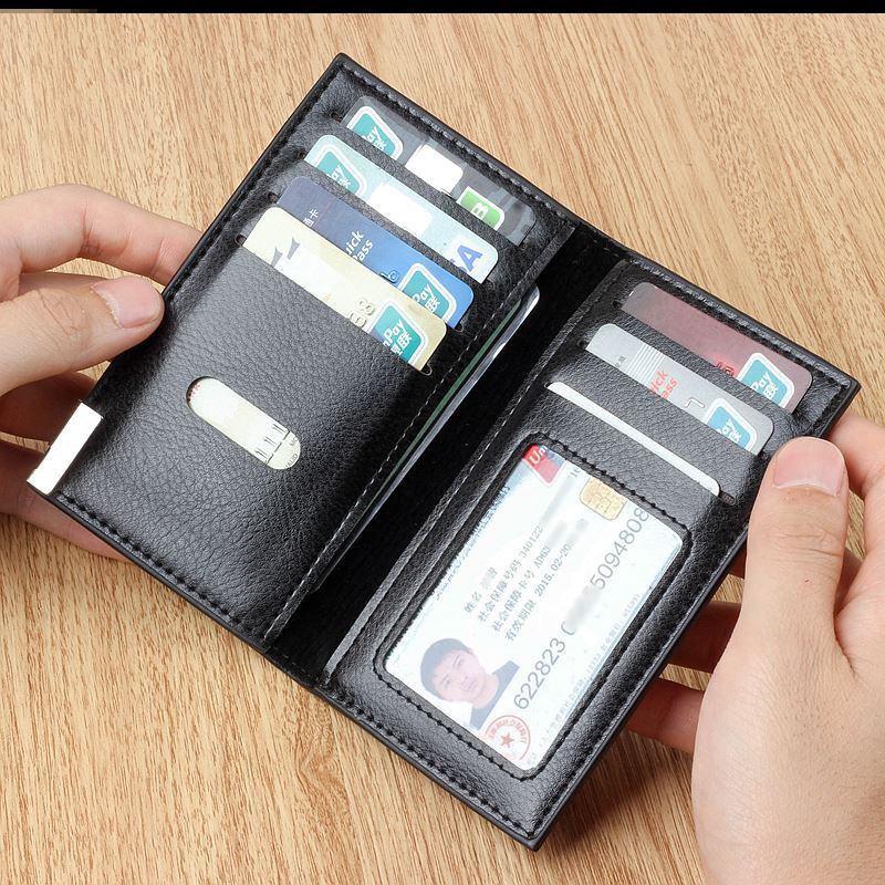 Card bag wallet two in one lightweight mens change driving license soft leather small bus card travel plan boutique driving