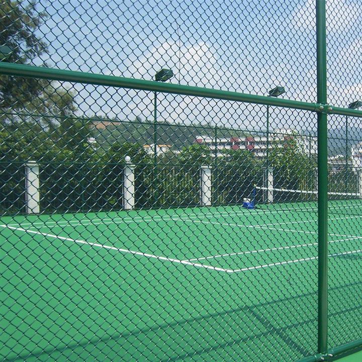 球场围栏足网球场围网体育场铁丝网 球场围 勾花网护栏菱形网篮