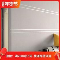 3D客厅电视背景墙壁纸卧室现代简约鹿皮绒大理石条纹墙纸无纺布