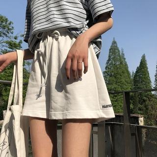 夏季韩版宽松显瘦宽松ins高腰学生阔腿短裤女学生休闲裤热裤子女