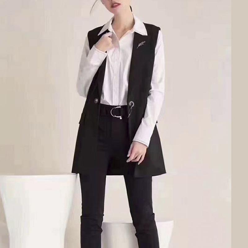 新颖阿玛施正旗舰店官网2020春新款马甲女装正品修身显瘦西装马甲