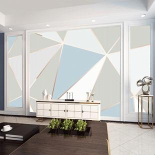 电视背景墙壁纸几何网红直播间墙纸卧室客厅简约现代装饰宿舍自粘