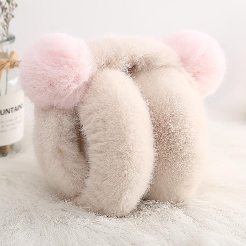 耳套保暖女冬季韩版可爱卡通护耳朵捂耳包耳暖可折叠加厚毛绒耳罩
