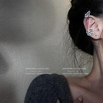 仙女风镶钻蝴蝶耳骨夹森先喧夹无耳洞女超仙耳环韩国气质网红耳饰