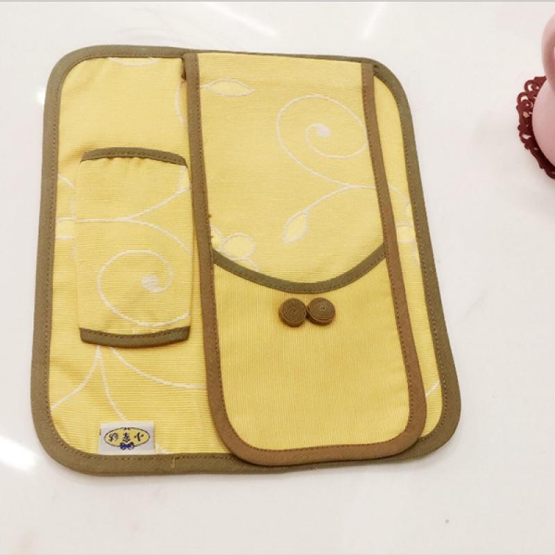 【经典布艺】韩版布艺古典电话套防尘罩电话机防尘罩两件套听筒罩 Изображение 1