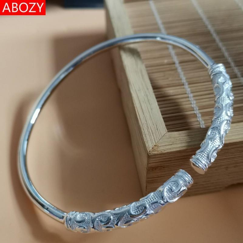 Silver Bracelet adult Sterling Silver Bracelet adult female Bracelet childrens Sterling Silver 999 solid opening