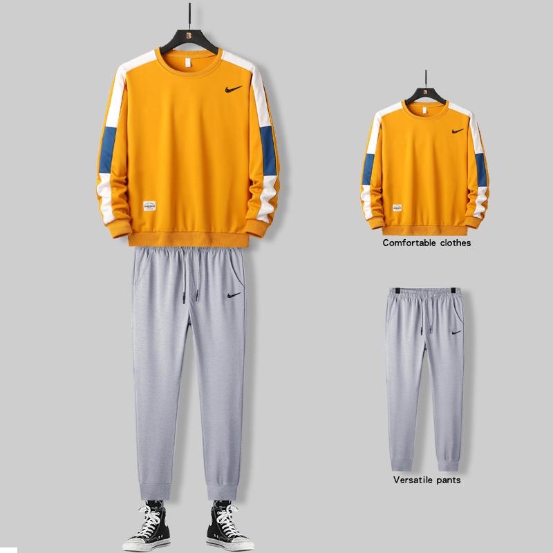 新款运动套装男卫衣韩版潮学生男装一套搭配衣服帅气休闲青少年