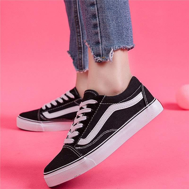 帆布鞋女学生韩版情侣鞋布鞋运动鞋女生原宿风平底鞋女鞋子女学生