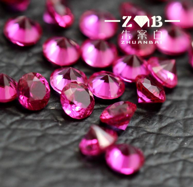 0.8-3.0mm小碎钻玫红碧玺宝石小颗粒珠宝彩宝微镶专用宝石裸石