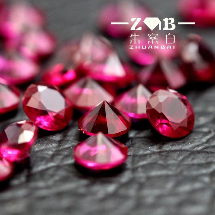 0.8-3.0mm小碎钻鸽血红宝石小颗粒珠宝彩宝微镶专用宝石裸石戒面