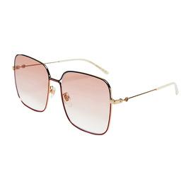GUCCI 古驰 闫妮同款时尚方框女士眼镜 粉色 太阳镜GG0443S图片