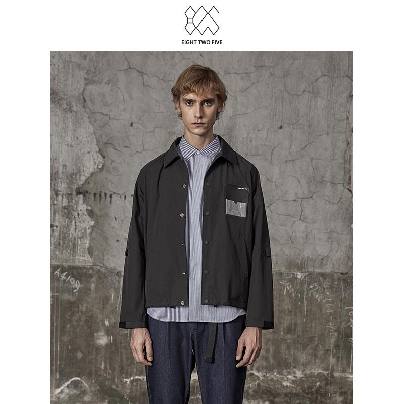 825男装时尚舒适透气黑色工装款男式休闲夹克