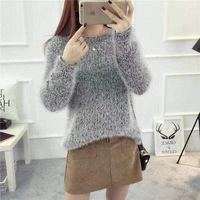 毛衣女学生秋冬韩版宽松冬秋装新款针织衫宽松打底衫外套女