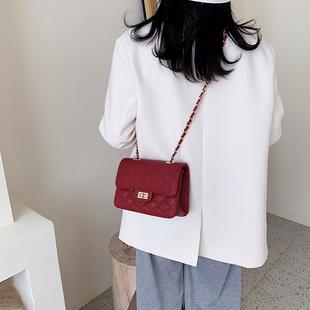 鱼子酱包包女2020新款大牌女包奢侈品小香风菱格链条单肩斜挎包潮品牌