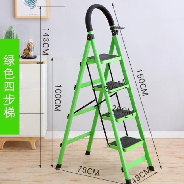 Thickened project general climbing contraction ladder household folding ladder ladder bench expansion cabinet high and low landing dual purpose