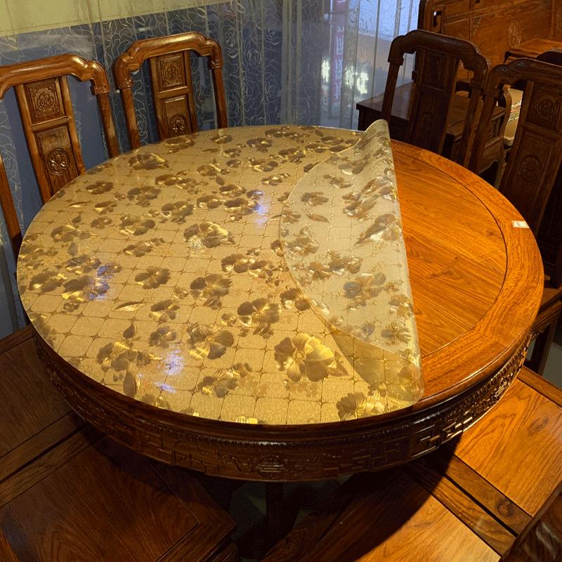 酒店大圆桌pvc防水伸缩折叠桌布评价好不好