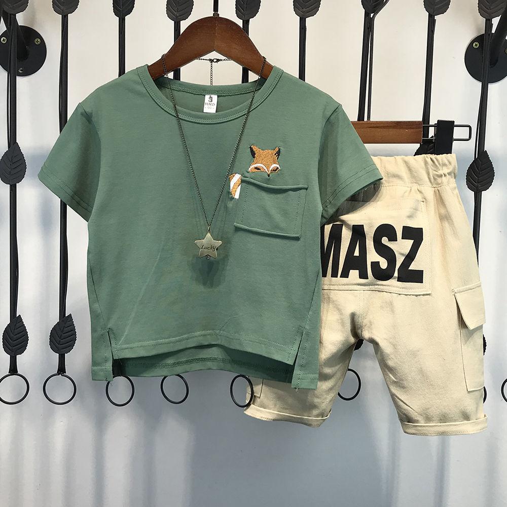 童装男童夏装套装2020新款儿童韩版夏季短袖宝宝两件套洋气潮衣服