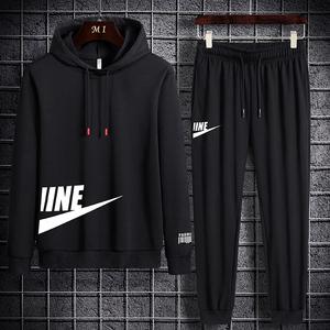 卫衣男士运动休闲套装2020秋季新款韩版潮流搭配男装帅气一套衣服