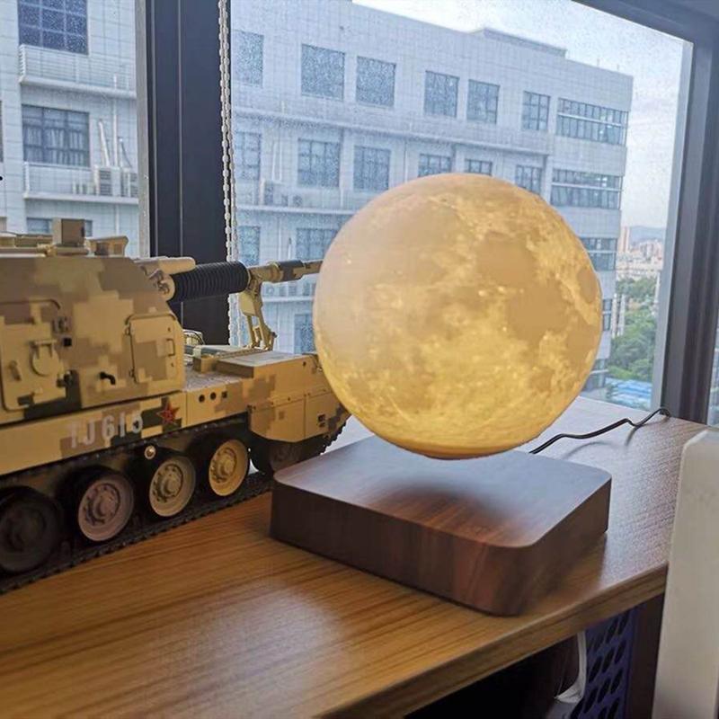 七夕情人节磁悬浮月球台灯3D月亮创意生日礼物送女友床头卧室台灯