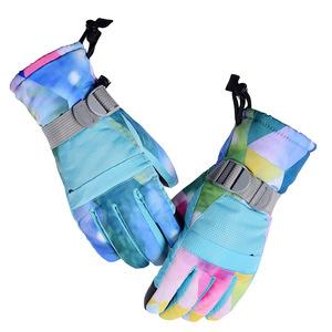 。触屏手套加绒亲子款加厚防滑防水骑行户外登山保暖男女手套