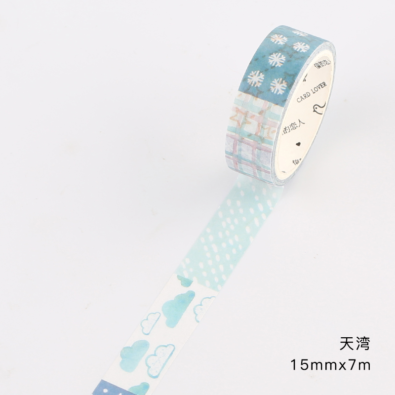 Patchwork grocery store and paper tape hand account material whole roll collage small fresh sugar paper warm pet
