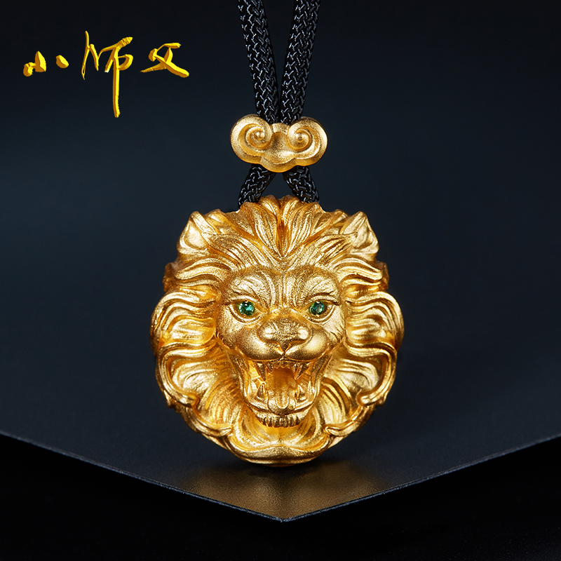 Little master Kings return Necklace male 925 Sterling Silver Lion pendant personality domineering national style retro Pendant Jewelry
