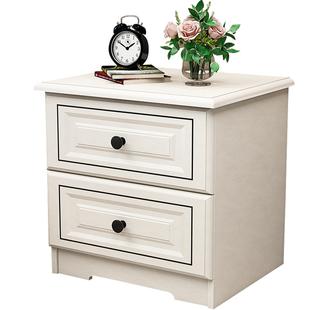 北歐牀頭櫃輕奢簡約現代白色牀邊櫃小櫃子經濟型卧室儲物櫃整裝