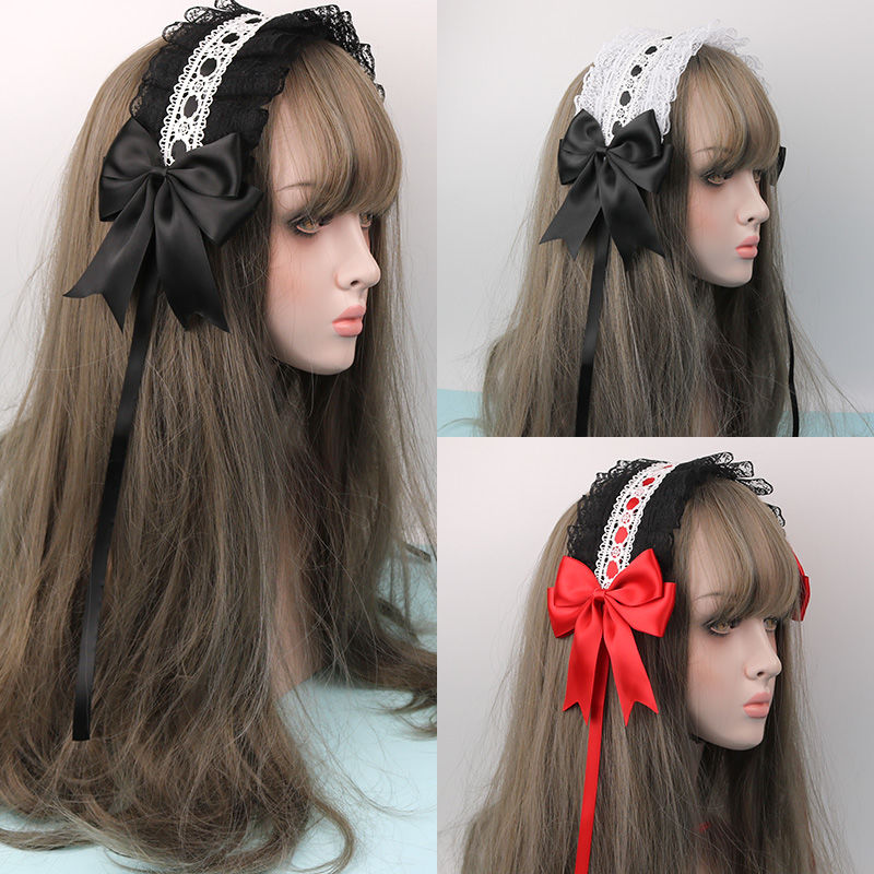 Baoyou Japanese soft girl Lolita cute girl lace headdress Lolita Lolita versatile KC hair band