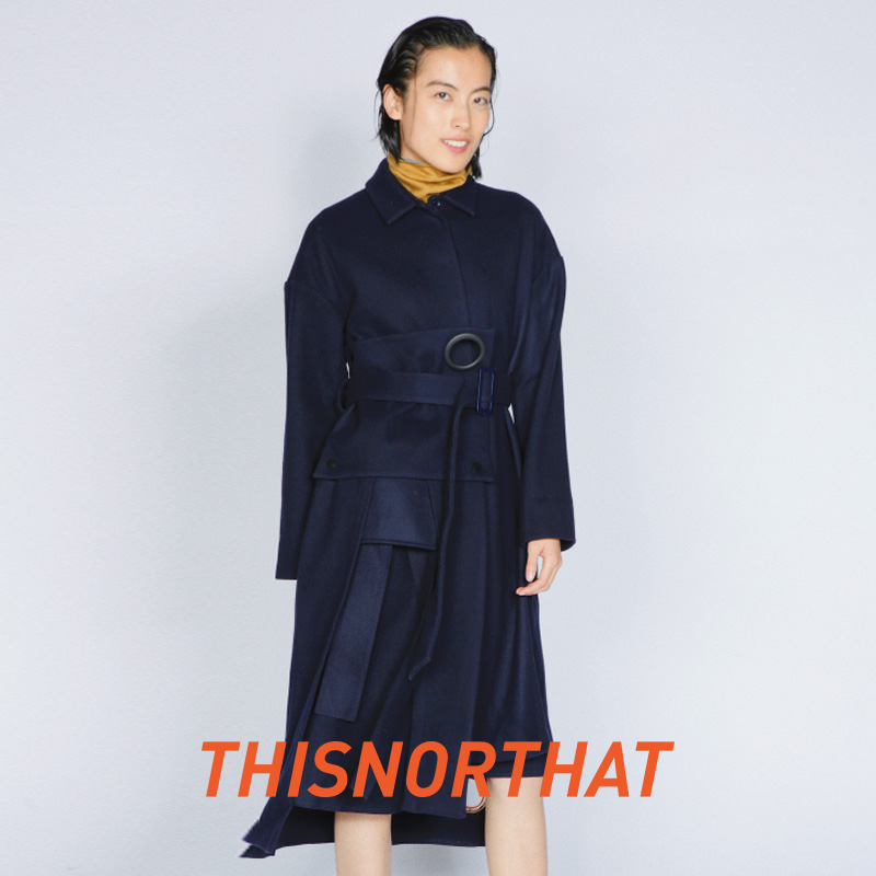Thisnorhat is also a mid length Lapel coat in autumn and winter and a woolen overcoat 84954