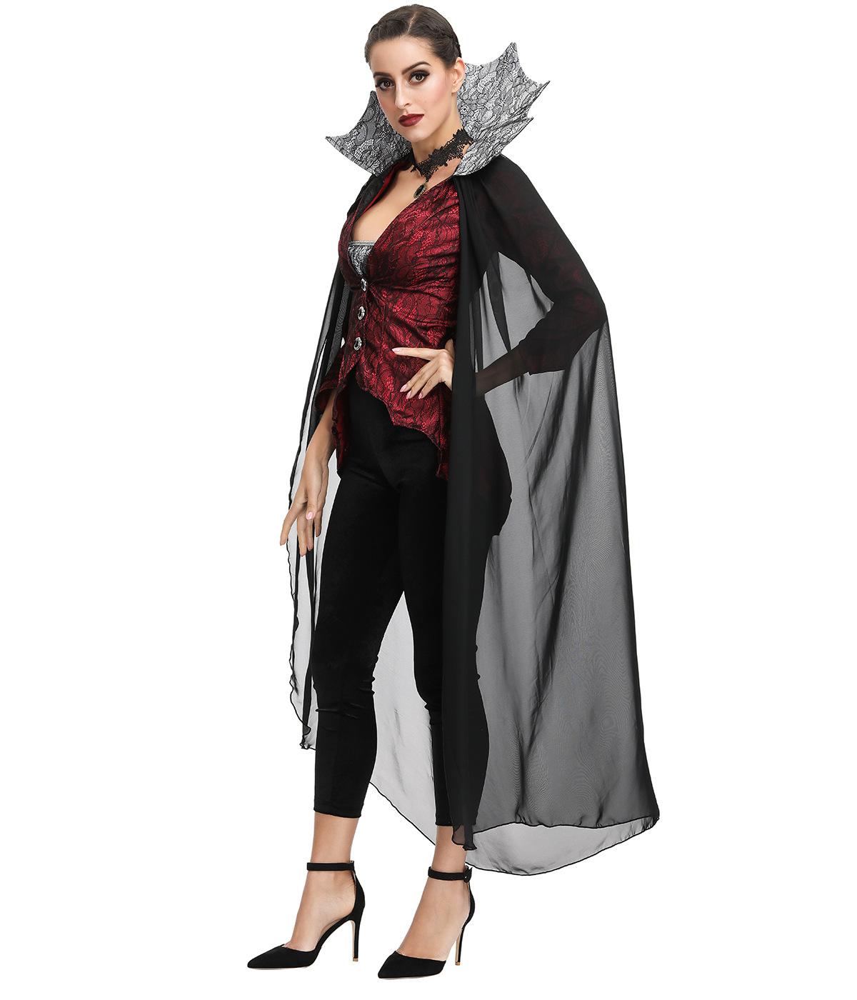 Role play black widow dress Cosplay King costume vampire Devil Halloween Costume European American woman