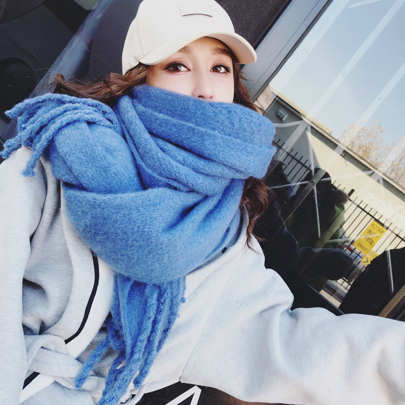 [Mrs. Qian] chinstudios big warm, soft and comfortable braided scarf, 4 colors
