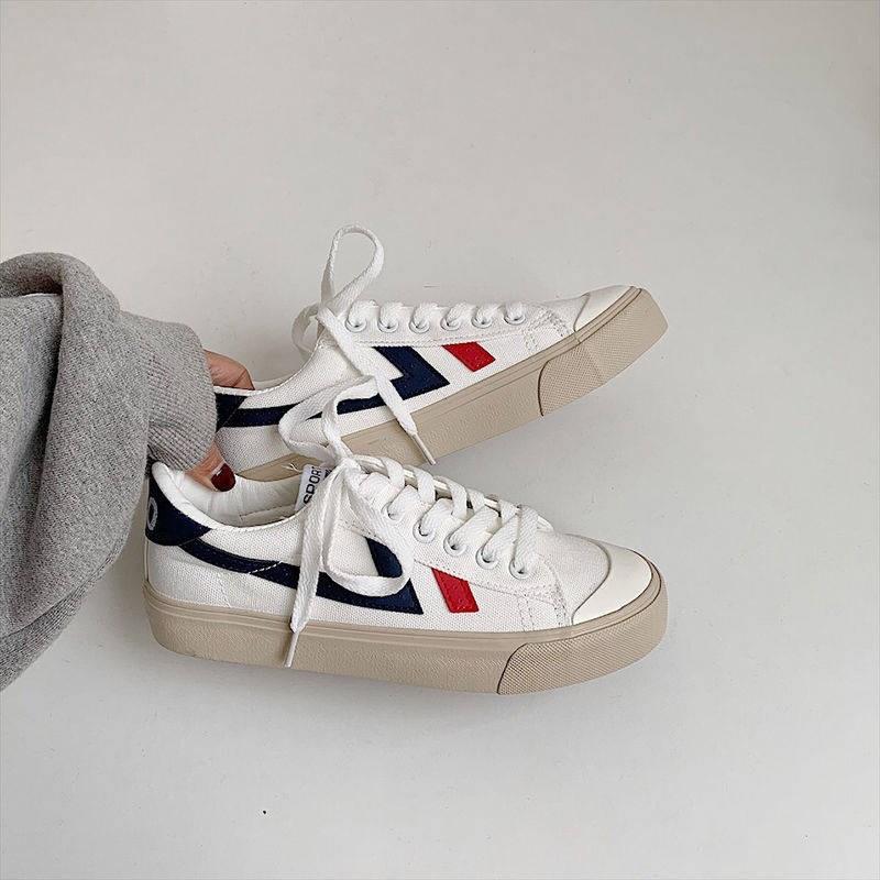 2019新款韩版ulzzang百搭1990李圣经同款复古港味百搭帆布鞋女鞋