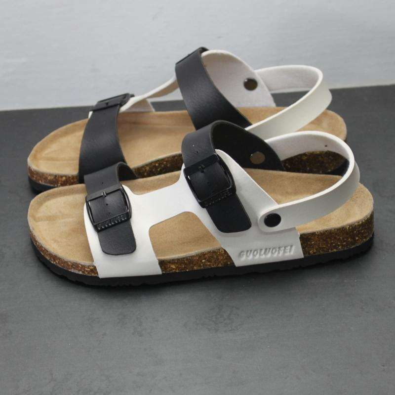 Wear and tow dual-purpose summer antiskid wear-resistant cork sandals two wear slippers half drag fashion student sandals mens sandals