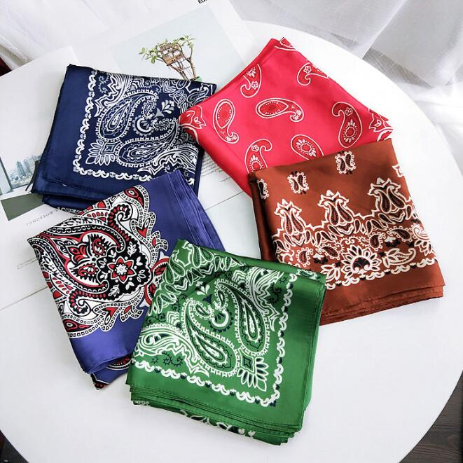 Chinese flower square scarf, small silk scarf, mens and womens universal headscarf, work professional scarf, fashion and versatile color matching