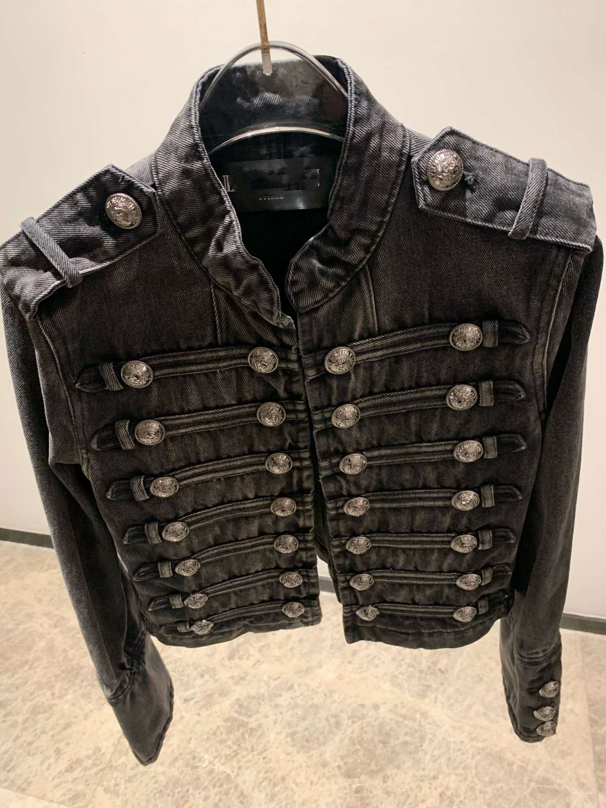 Minority early autumn double breasted metal standing collar goddess motorcycle cowboy short jacket temperament short coat female