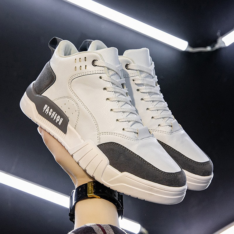 Spring 2020 new mens shoes versatile Korean fashion mens high top sports casual shoes canvas shoes