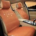 通用凉垫亚麻夏季单个单片四季汽车垫子新款坐垫座垫五座前排红色