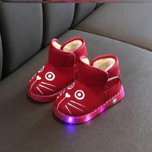 特別靴鞋舒服棉鞋冬天一腳蹬兒童款校園兒童靴子女短靴洋氣時尚
