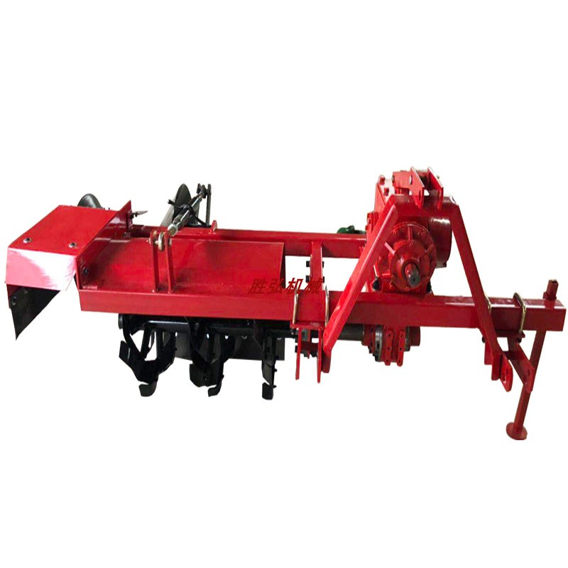 Dry paddy field four wheel tractor with single and double-sided stemming machine