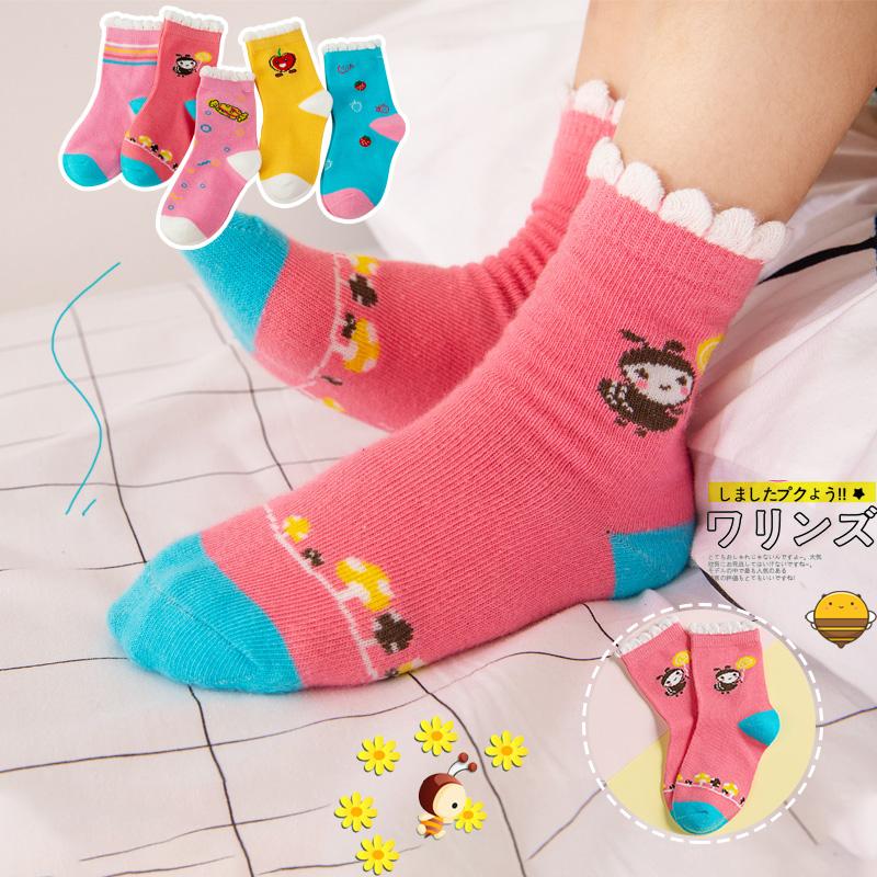 儿童袜子秋冬季纯棉加厚男童女童新生儿宝宝童袜婴儿冬天款中筒袜