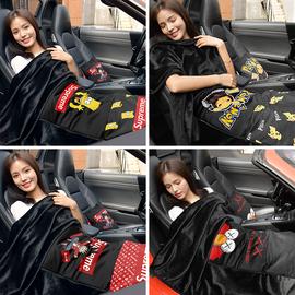 汽车抱枕被子两用车内抱枕靠垫后排加厚毛毯办公室午睡抱枕毯神器